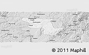Silver Style Panoramic Map of Qujing