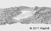 Gray Panoramic Map of Ruili