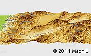 Physical Panoramic Map of Ruili