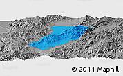 Political Panoramic Map of Ruili, desaturated