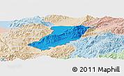 Political Panoramic Map of Ruili, lighten