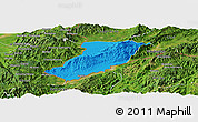 Political Panoramic Map of Ruili, satellite outside