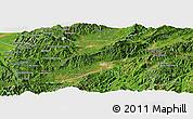 Satellite Panoramic Map of Ruili