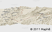 Shaded Relief Panoramic Map of Ruili