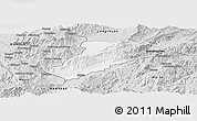 Silver Style Panoramic Map of Ruili