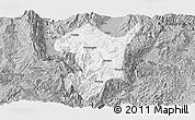 Gray Panoramic Map of Shidian