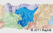 Political Panoramic Map of Shidian, lighten