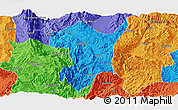 Political Panoramic Map of Shidian