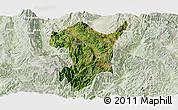 Satellite Panoramic Map of Shidian, lighten