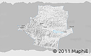 Gray Panoramic Map of Shiping, single color outside