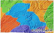 Political 3D Map of Shizong