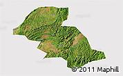 Satellite 3D Map of Shizong, cropped outside