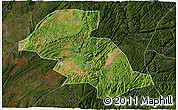 Satellite 3D Map of Shizong, darken