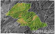 Satellite 3D Map of Shizong, desaturated