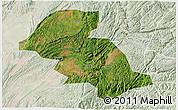 Satellite 3D Map of Shizong, lighten