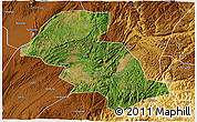Satellite 3D Map of Shizong, physical outside