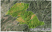 Satellite 3D Map of Shizong, semi-desaturated