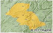 Savanna Style 3D Map of Shizong