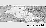Gray Panoramic Map of Shizong