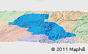 Political Panoramic Map of Shizong, lighten