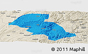 Political Panoramic Map of Shizong, shaded relief outside