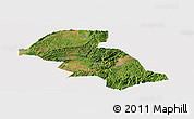 Satellite Panoramic Map of Shizong, cropped outside