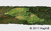 Satellite Panoramic Map of Shizong, darken