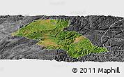 Satellite Panoramic Map of Shizong, desaturated