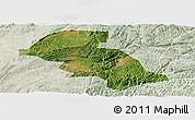 Satellite Panoramic Map of Shizong, lighten