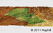 Satellite Panoramic Map of Shizong, physical outside