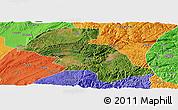 Satellite Panoramic Map of Shizong, political outside