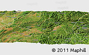 Satellite Panoramic Map of Shizong