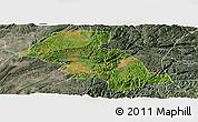 Satellite Panoramic Map of Shizong, semi-desaturated