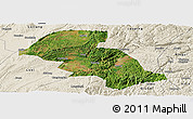 Satellite Panoramic Map of Shizong, shaded relief outside