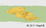 Savanna Style Panoramic Map of Shizong, single color outside