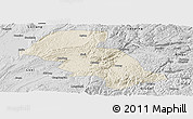 Shaded Relief Panoramic Map of Shizong, desaturated