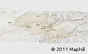 Shaded Relief Panoramic Map of Shizong, lighten