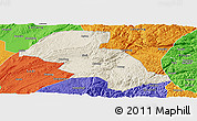 Shaded Relief Panoramic Map of Shizong, political outside