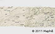 Shaded Relief Panoramic Map of Shizong
