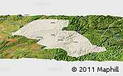 Shaded Relief Panoramic Map of Shizong, satellite outside