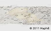 Shaded Relief Panoramic Map of Shizong, semi-desaturated