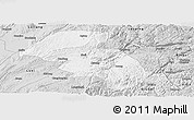 Silver Style Panoramic Map of Shizong