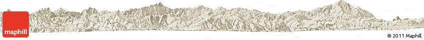 Shaded Relief Horizon Map of Shuangjiang