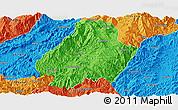 Political Panoramic Map of Shuangjiang