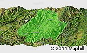 Political Panoramic Map of Shuangjiang, satellite outside