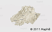 Shaded Relief Panoramic Map of Shuangjiang, cropped outside
