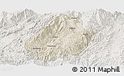 Shaded Relief Panoramic Map of Shuangjiang, lighten