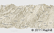 Shaded Relief Panoramic Map of Shuangjiang