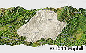Shaded Relief Panoramic Map of Shuangjiang, satellite outside