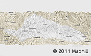 Classic Style Panoramic Map of Simao